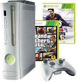 Игровая приставка Xbox 360 Arcade + HDD 20 Gb плюс Две популярные игры