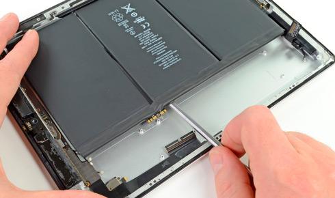 Замена батареи на iPad 4