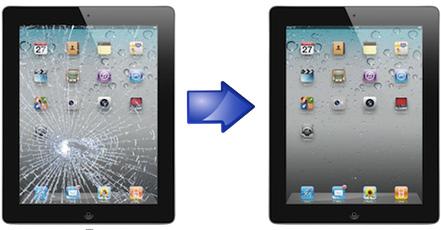 Замена дисплея, сенсорного стекла iPad