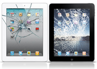 Разбилось стекло, экран iPad