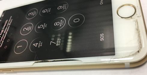 Защитное стекло в действии - спасло экран iPhone 7